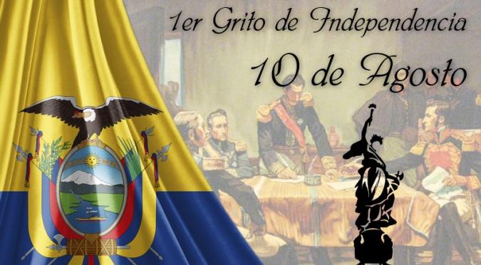 Juan Paz y Miño: 10 de agosto Primer Grito de la Independencia.