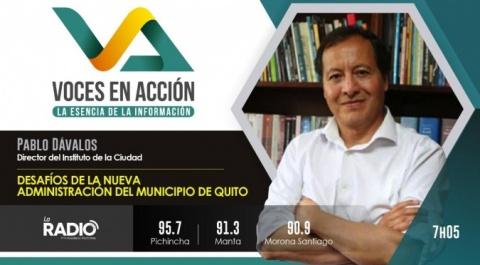 Pablo Dávalos - Director del Instituto de la Ciudad de Quito
