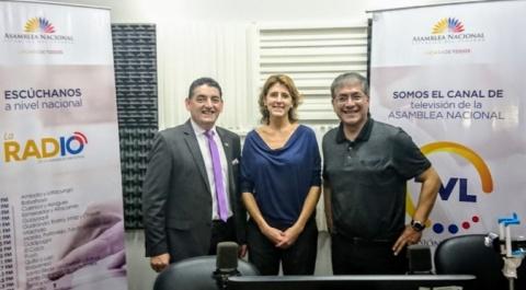 """Angel Sinmaleza - asambleísta, Maria del Carmen Velasco - Plan Internacional, """"Lo Dices Tú, Lo Digo Yo"""""""