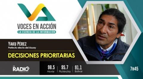 Yaku Pérez - Prefecto electo del Azuay