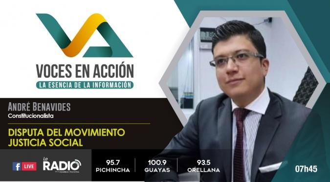 André Benavides: Disputa del movimiento Justica Social