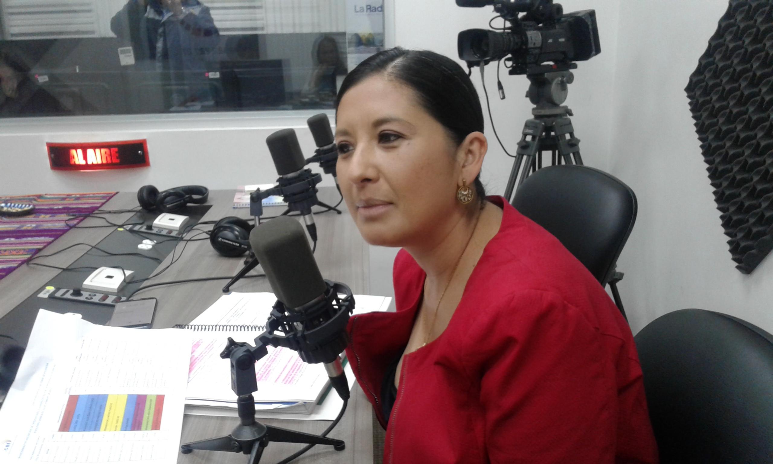 Mariela Segovia, presidenta de la Junta Provincial Electoral de Pichincha