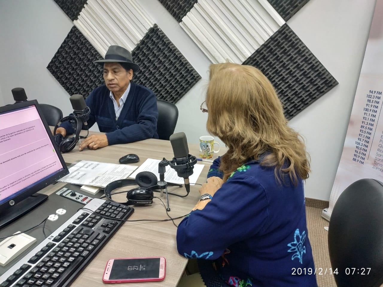 Luis Macas: Designación de autoridades.