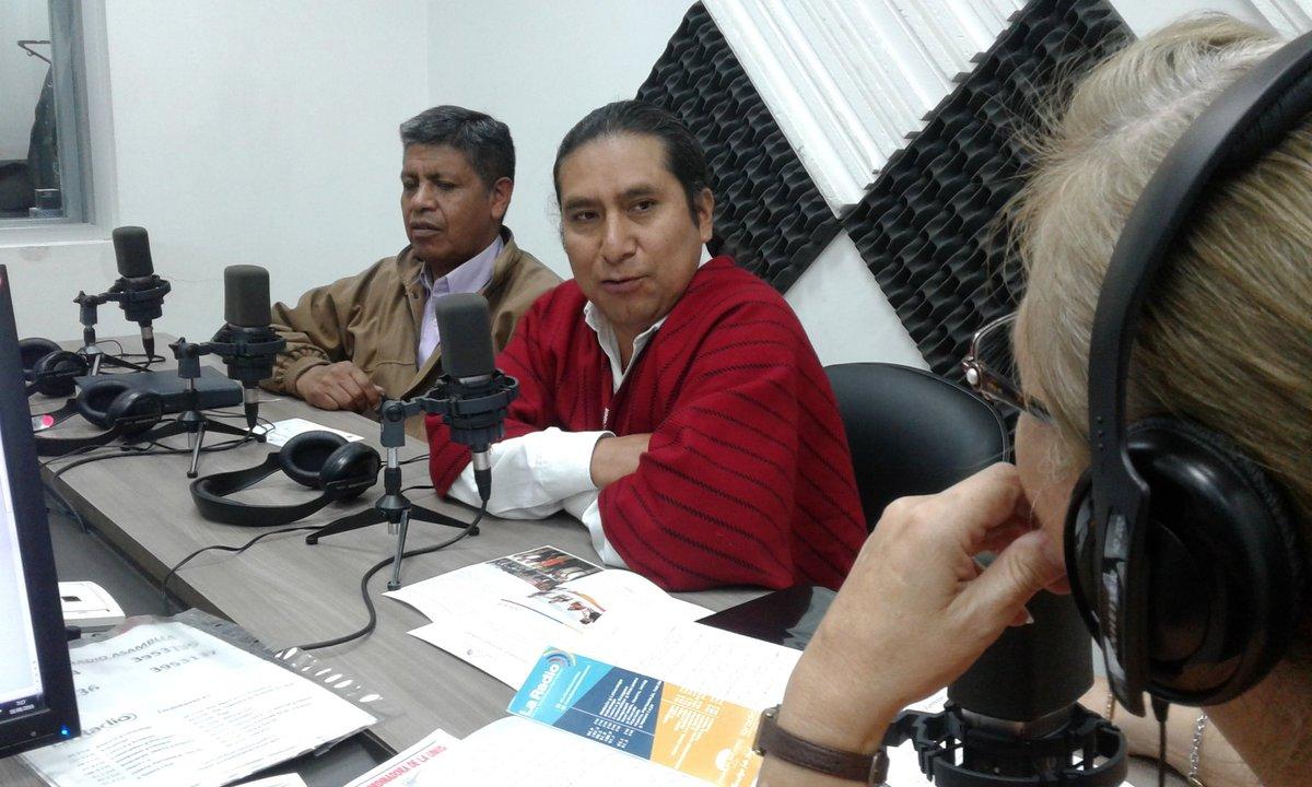 Miguel Coro, concejal (alterno) de Quito y Gerardo Anrrango.