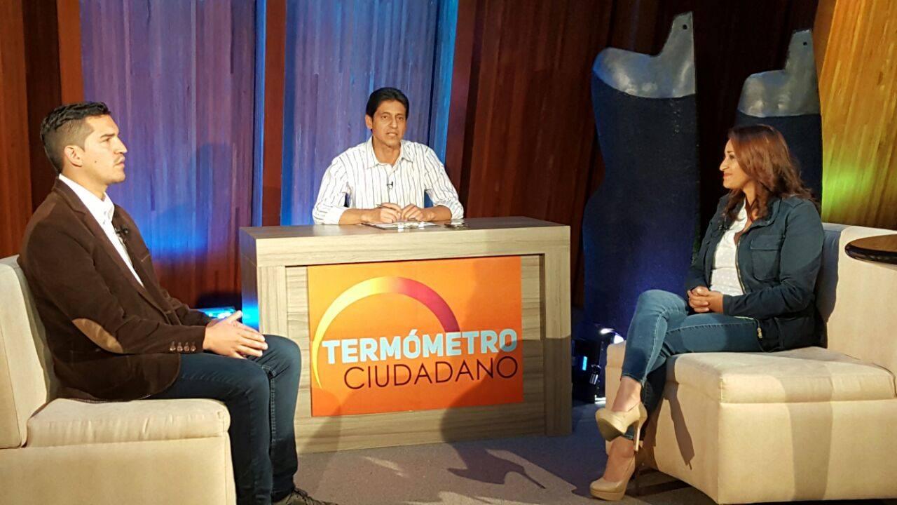 Candidatos Jéssica Jaramillo y Diego Vintimilla