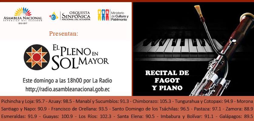 RECITAL DE FAGOT Y PIANO