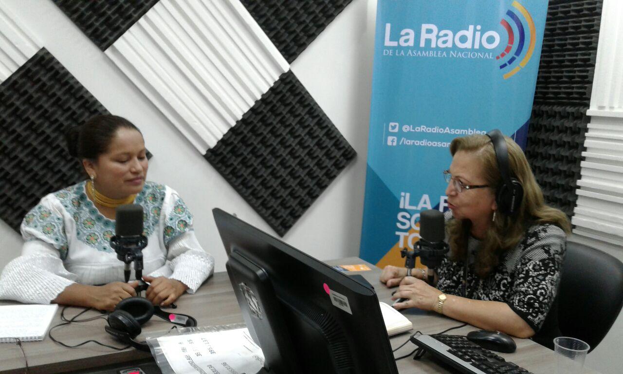 Asambleísta Esthela Acero, representante  de AP por Pichincha