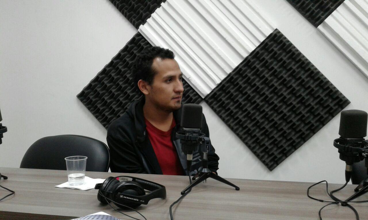 Hugo Yépez, estudiante de la Universidad Técnica Equinoccial.