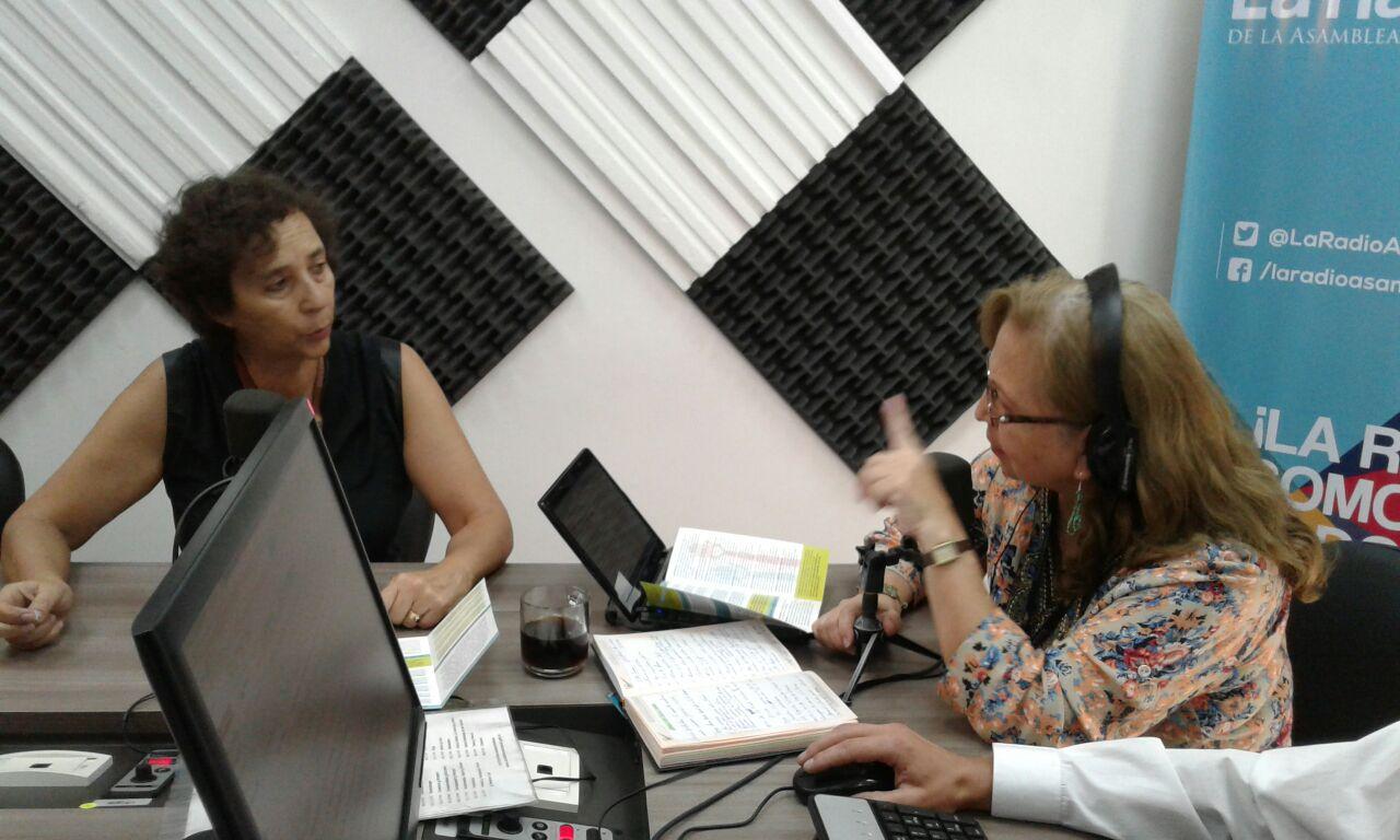 Lizi Ernest representante de la Coalición Nacional Mujeres del Ecuador