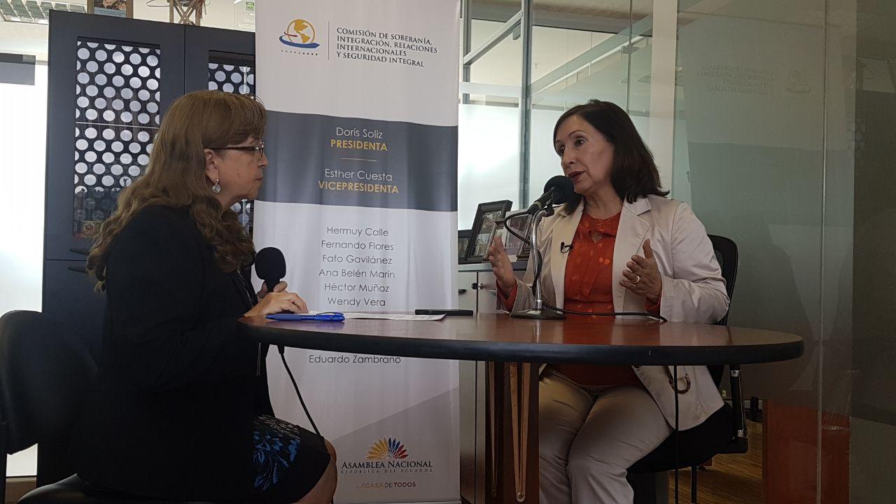 Doris Soliz: Asamblea UIP y exención visa Schengen