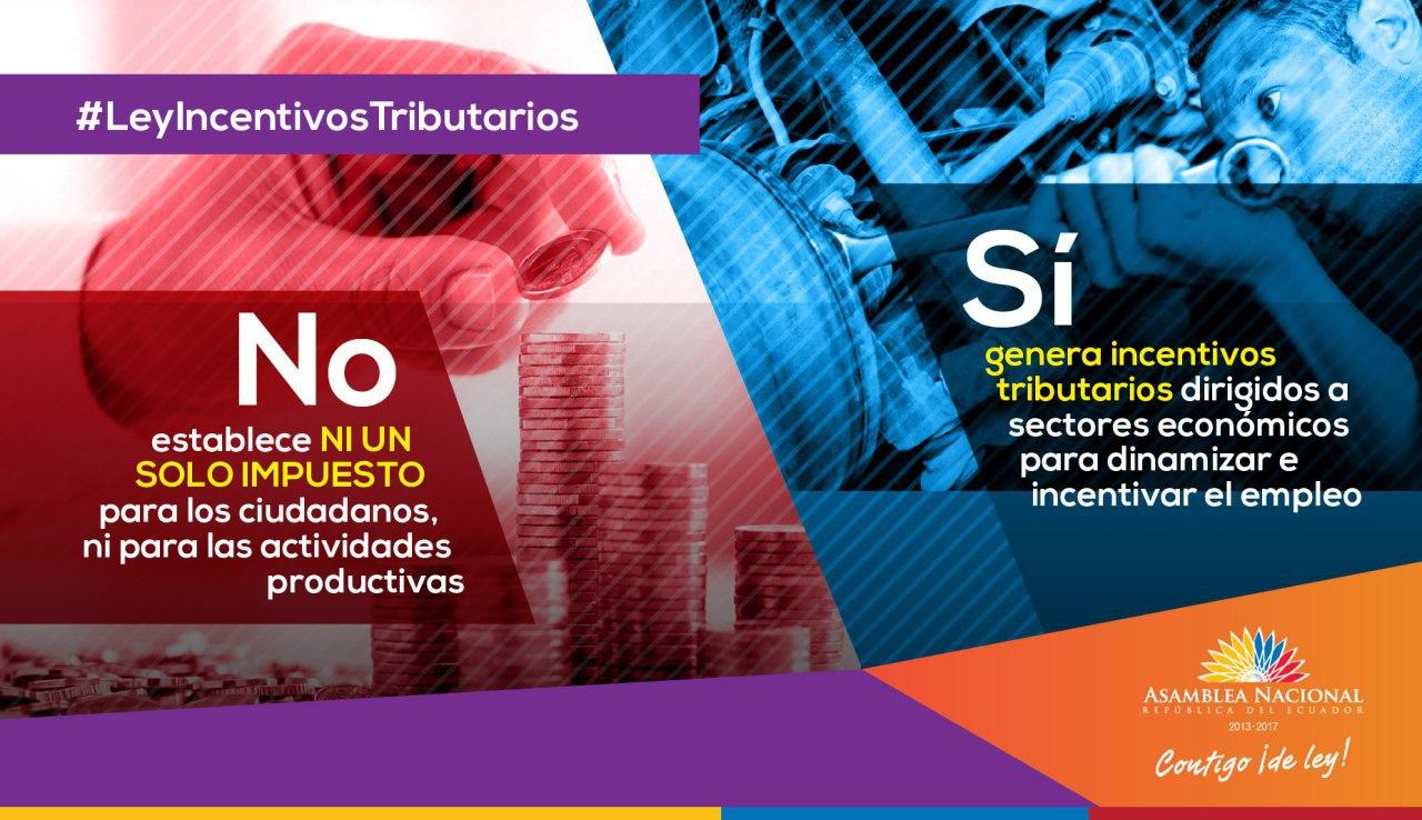 LEY DE INCENTIVOS TRIBUTARIOS PARA VARIOS SECTORES PRODUCTIVOS