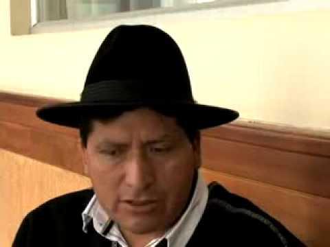 Alcalde del cantón Pelileo Manuel Caizabanda