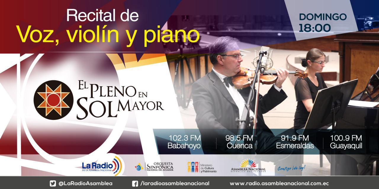 Recital de Voz, Violín y Piano