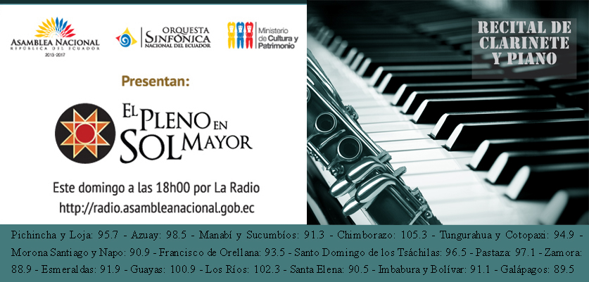 RECITAL DE PIANO Y CLARINETE