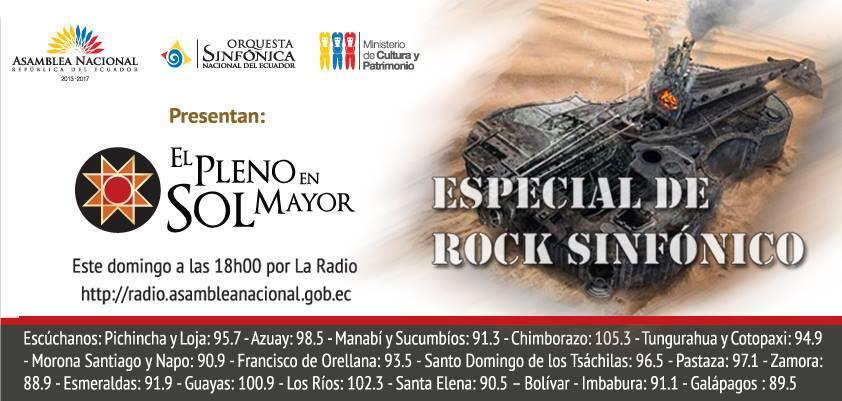 ESPECIAL DE ROCK SINFÓNICO