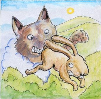 """Leyenda andina """"El lobo y el conejo"""""""
